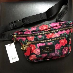 Juicy Couture Black Romantic Belt Bag Fanny Pack